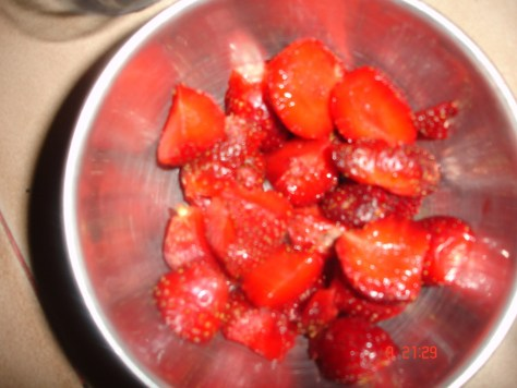 strawberries diced