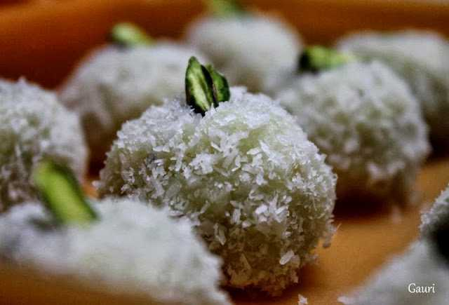 coconut ladoos  Ganesha Chaturthi special 12