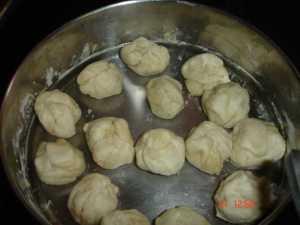 balls of the dough