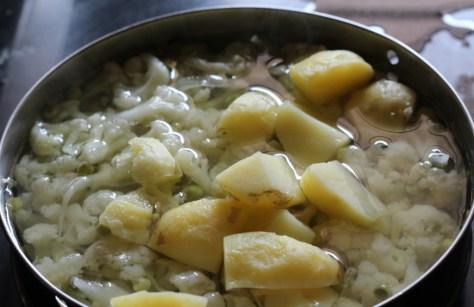 veggies boiled