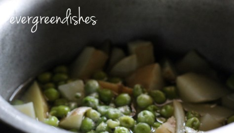 boiled veggies