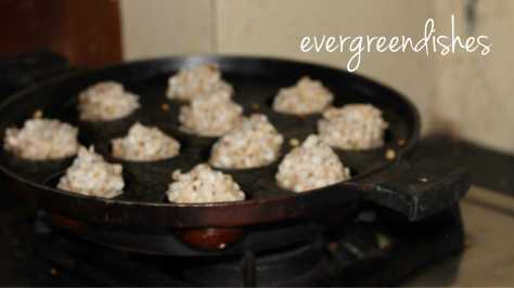 being cooked in appe pan  Sabudana wada in Appe pan/ sago snack sabudana wada8 3000x1684