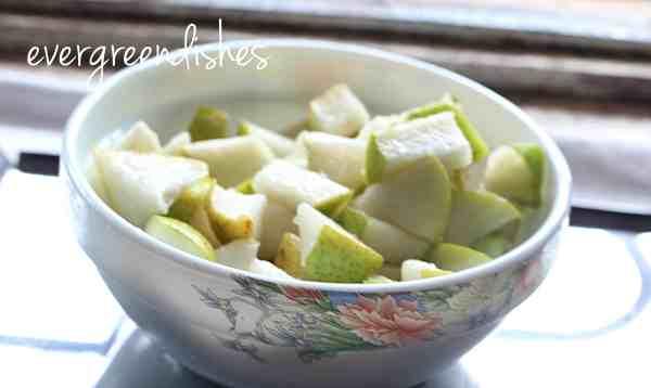 pear pieces