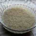 rice soaked in water