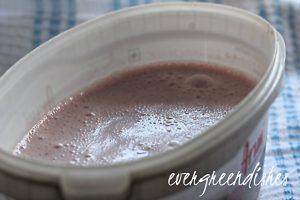 pour the ice cream mixture