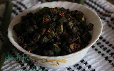 Tasty Bhindi Fry | okra fry