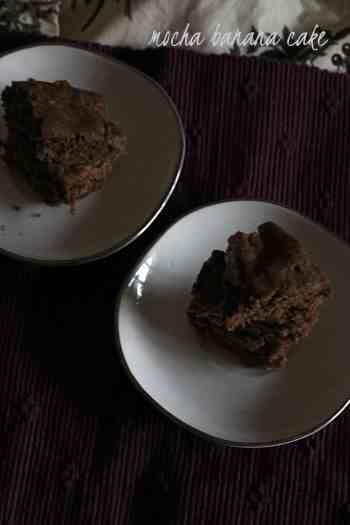 mocha banana cake  Mocha Banana Cake | healthy mocha cake mocha banana cake5 200x300