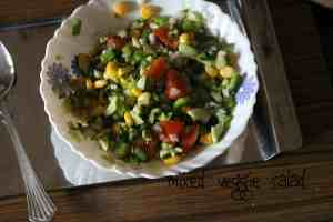 mixed vegetable salad  Mixed Vegetable Salad | healthy eating mixed veggie salad 300x200