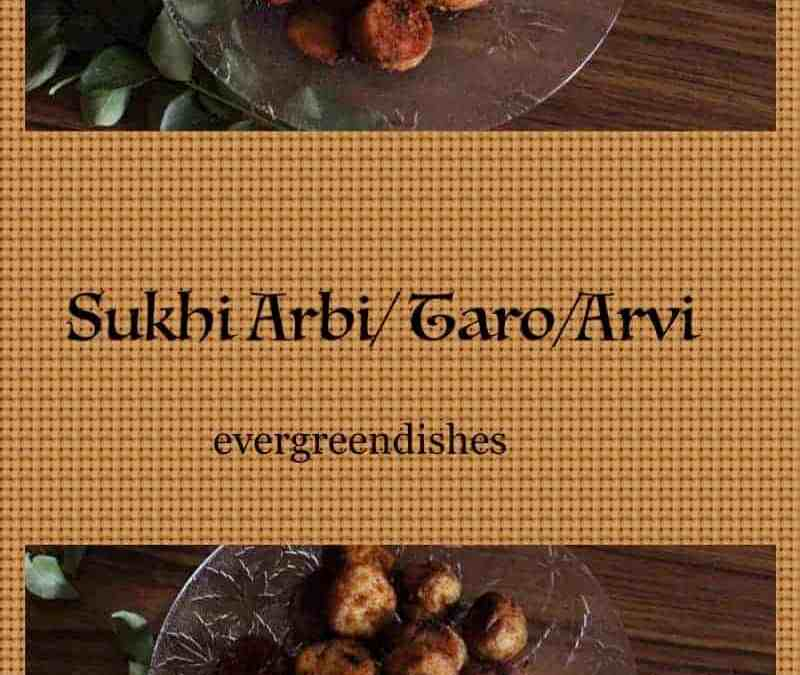 Sukhi Arbi/ colocosia/ how to make dry arbi stir fry