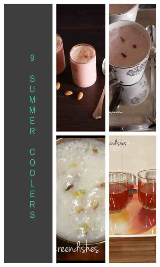 Collage summer coolers