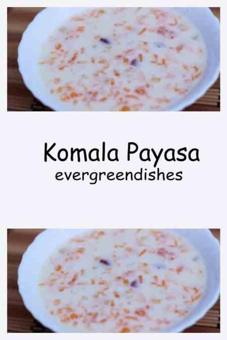Komala payasam orange milk pudding