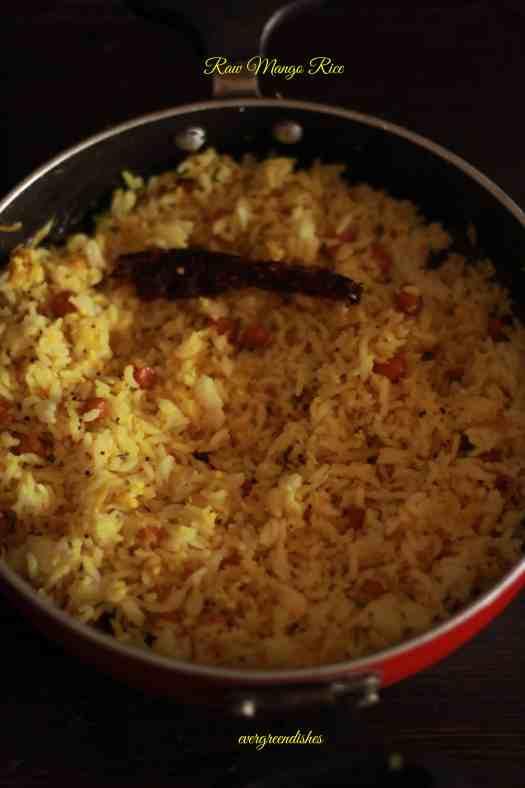raw mango rice . mavina kayi chitranna