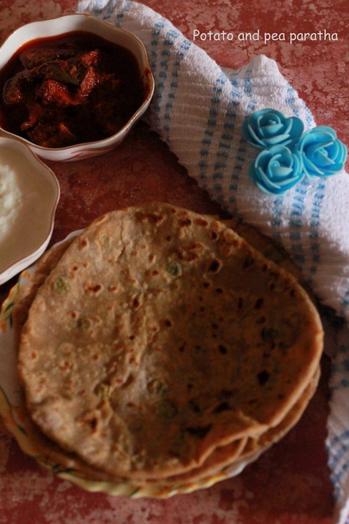 potato and pea paratha