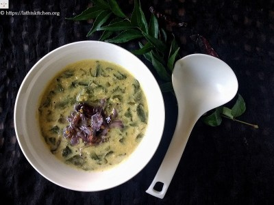 drumstick leaves dal with coconut