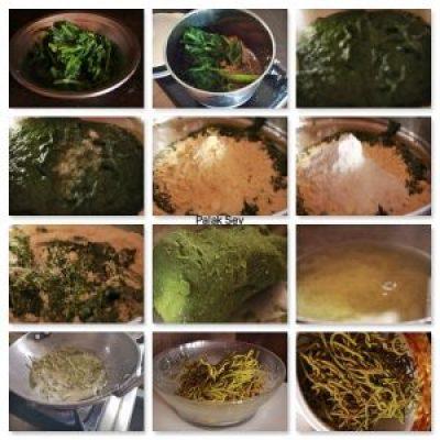 Making of Palak Sev