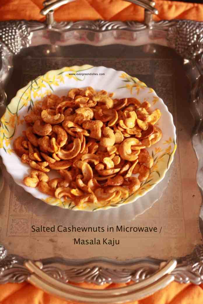 Salted Cashew nut in microwave/ Masala Kaju