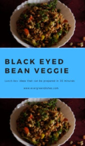 black eyed bean stir fry