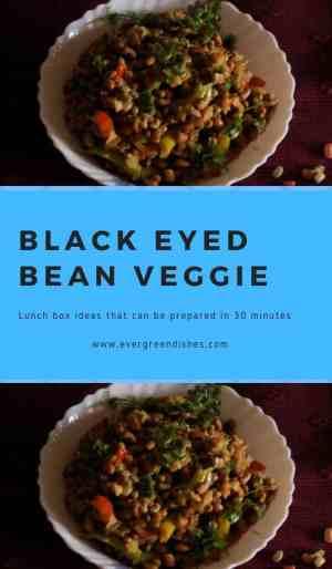 black eyed bean stir fry
