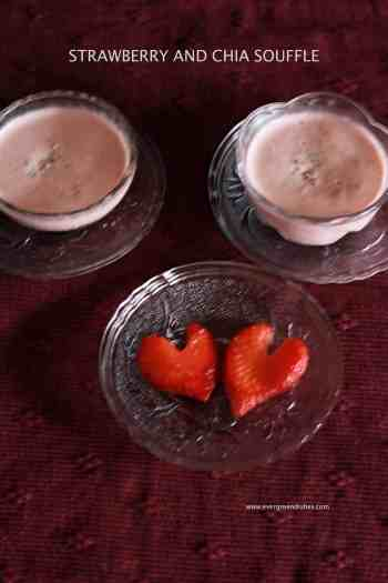 strawberry and chia souffle