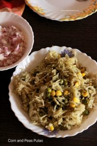 corn and peas pulao