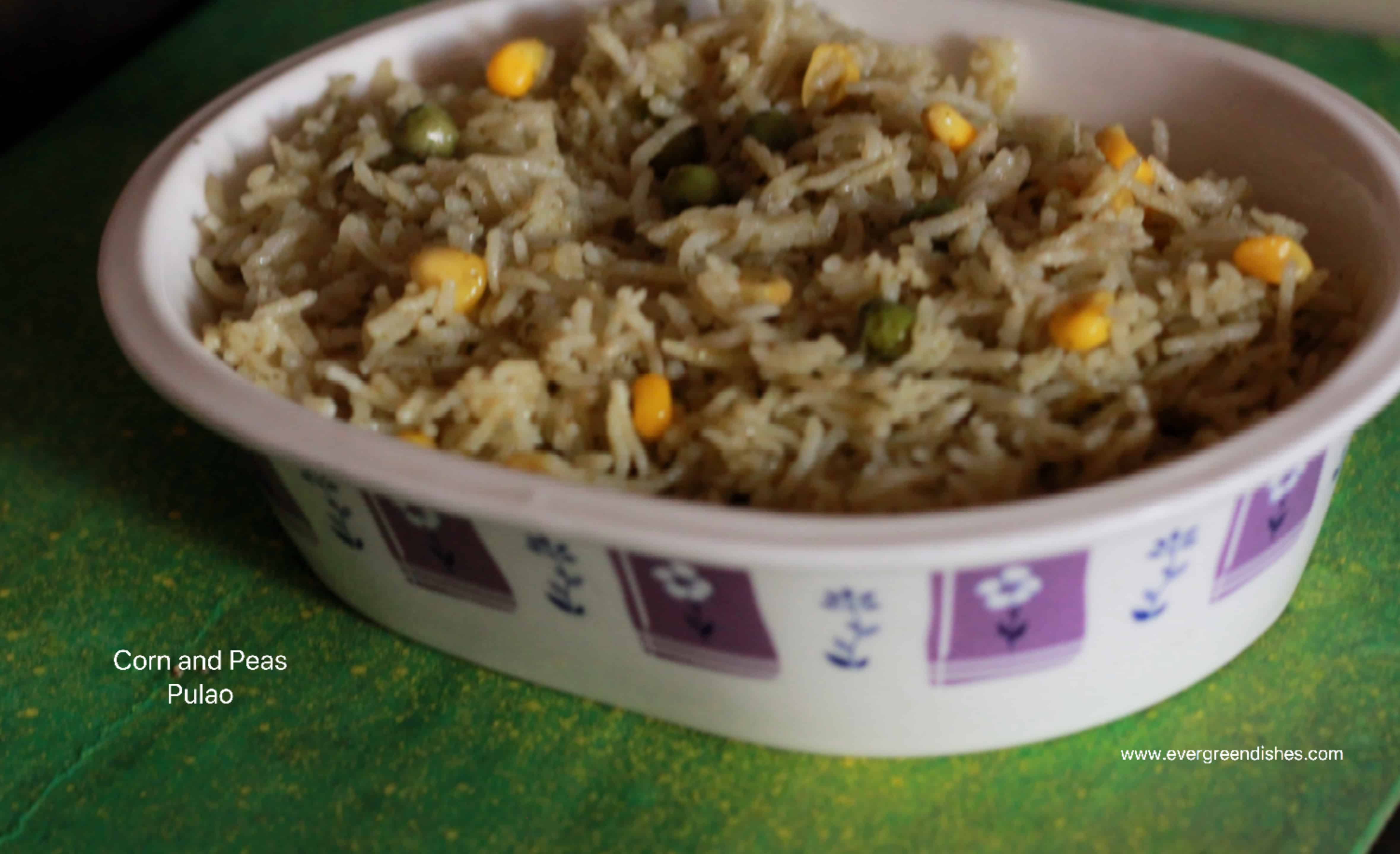 corn and peas pulao