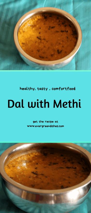 Dal with Methi
