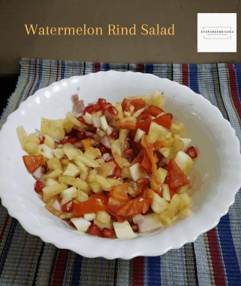 watermelon rind salad