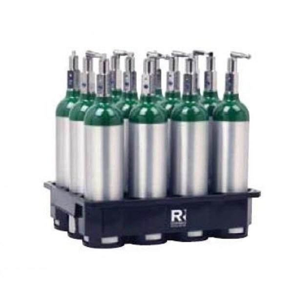 8 Cylinder Plastic Rack M6 Medical Oxygen Cylinders