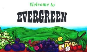 evergreen fruit label