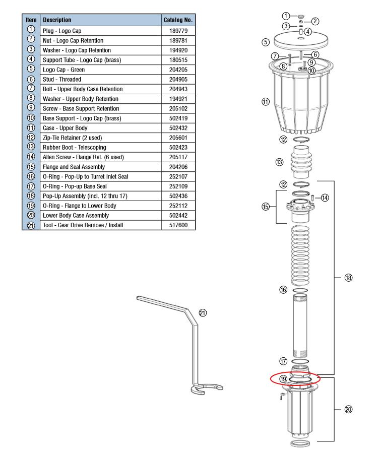 Hunter ICZ-101-LF-25 1in ICV globe valve with 1in HY100