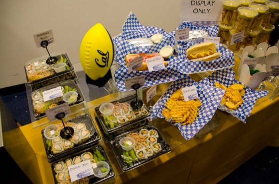 UC Berkeley, California Memorial Stadium Food Samples