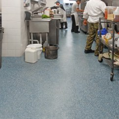 Commercial Kitchen Flooring Two Seat Table Healthy Hygienic Commerical Restaurant Non Slip Antiskid Epoxy Safety Floor