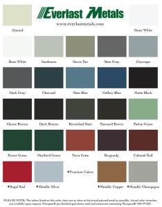 Below is our array of leed compliant and energy star rated colors everlast metals color chart also rh everlastmetals