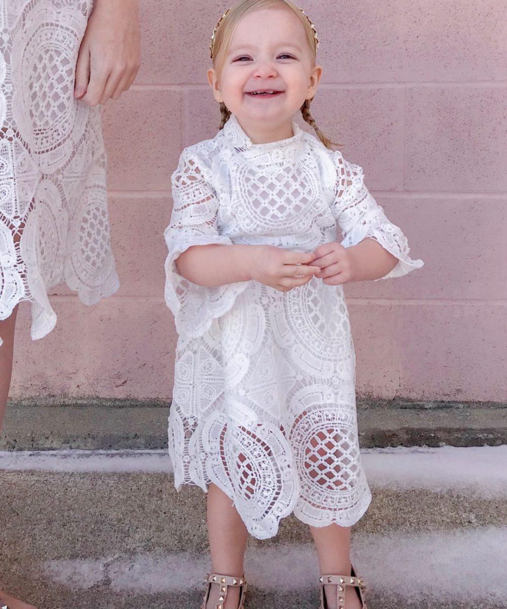 White Crochet Lace Dress 3
