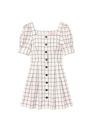 dawn gal meets glam brookie white navy windowpane dress