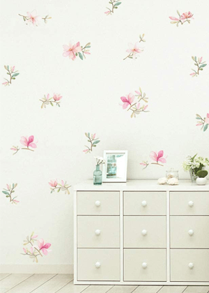 floral wall decals pink amazon home