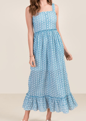 francescas blue eyelet maxi dress brookie