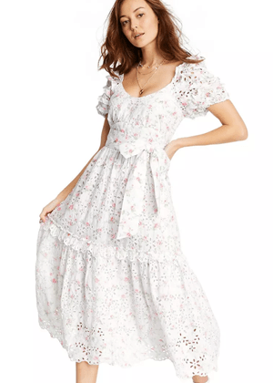 loveshackfancy x target brookie white eyelet floral pastel dress puff sleeve clementine