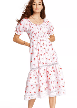 loveshackfancy x target cosette white floral puff midi dress brookie