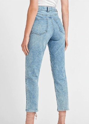 mom jeans light wash express brookie
