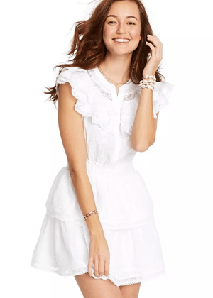 penelope loveshackfancy x target brookie white mini dress