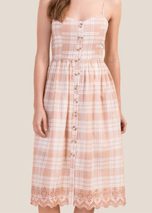 pink eyelet button dress francescas brookie