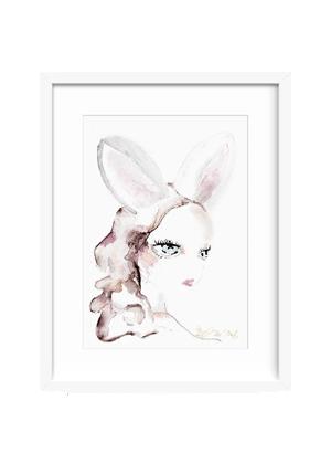 ruby ears bunny print little rae prints home decor