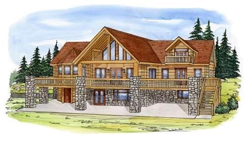 Concrete Log Home Floor Plans by EverLog Systems