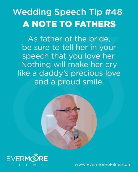 A Note to Fathers | Wedding Speech Tip #48 | Evermoore FIlms