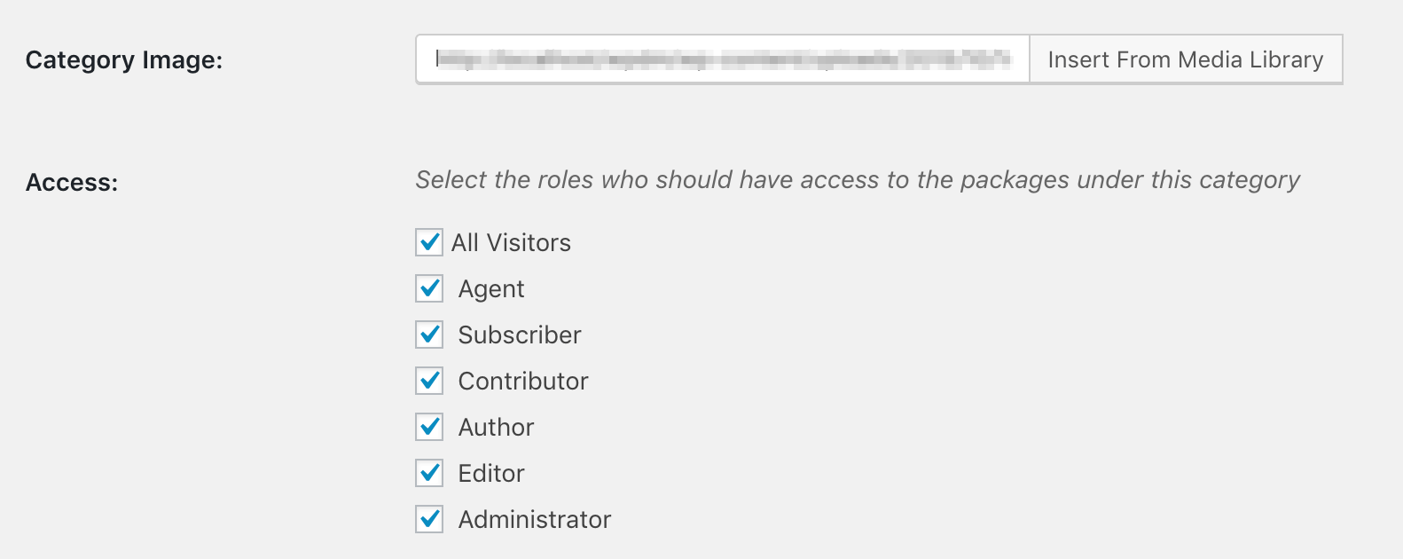Category Access