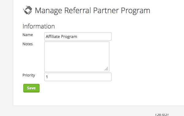 Create Affiliate Program