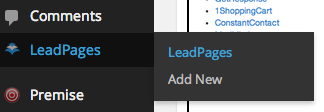 Leadpages WordPress Integration