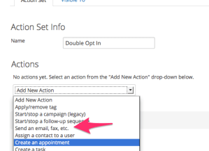 Add Email to Action Set