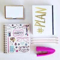 Ahhh pretty stationery. Love, love, love. Although, I do think a gold stapler would be better?  #abmplanner